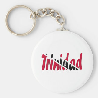 Trinidad & Tobago Basic Round Button Key Ring