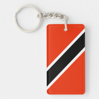 Trinidad & Tobago Double-Sided Rectangular Acrylic Key Ring