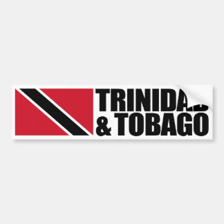 Trinidad & Tobago Flag Bumper Sticker