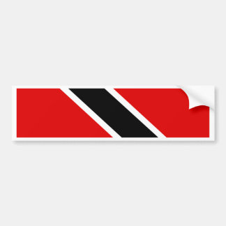 Trinidad Tobago Flag Bumper Sticker
