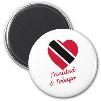 Trinidad & Tobago Flag Heart Magnet