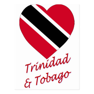 Trinidad & Tobago Flag Heart Postcard