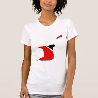 Trinidad Tobago Flag Map full size T-Shirt