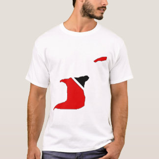Trinidad Tobago flag map T-Shirt