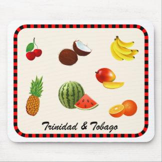 Trinidad & Tobago Juicy Fruits & Vegetables Mouse Pad