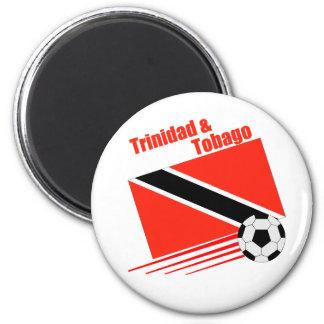 Trinidad & Tobago Soccer Team 6 Cm Round Magnet