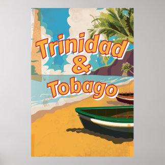 Trinidad Tobago Vintage vacation Poster