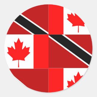 Trinidadian-Canadian Classic Round Sticker