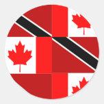 Trinidadian-Canadian Round Sticker