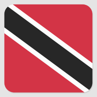 Trinidadian Flag Square Sticker