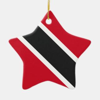 Trinidadtobago flag christmas ornament