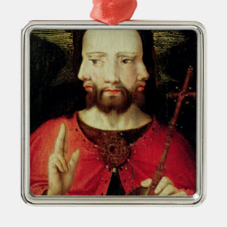 Trinitarian Christ, c.1500 Silver-Colored Square Decoration