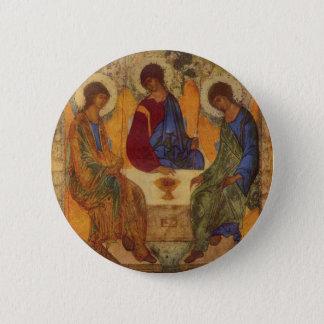 Trinity Angels At Mamre 6 Cm Round Badge