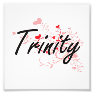 Trinity Artistic Name Design with Hearts Photo Art