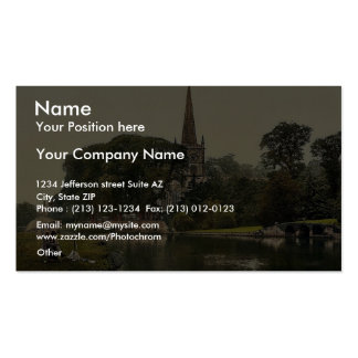 Trinity Church from the river, Stratford-on-Avon, Business Cards