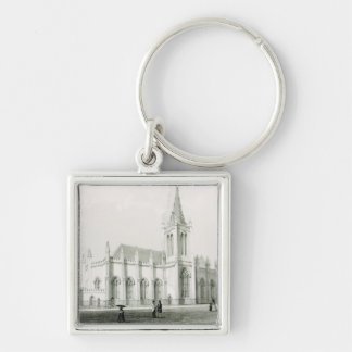 Trinity church, Port of Spain Silver-Colored Square Key Ring