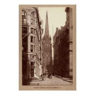 Trinity Church, Wall Street, New York City c1910 Poster