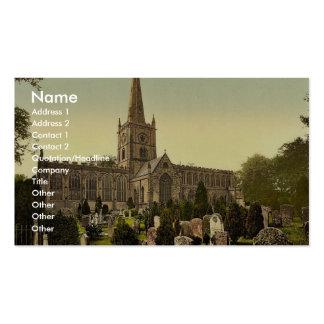 Trinity Church yard, Stratford-on-Avon, England ra Business Card Template
