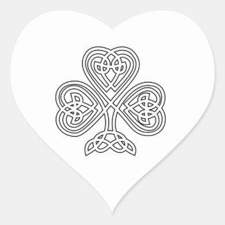 Trinity Design Shamrock Heart Sticker