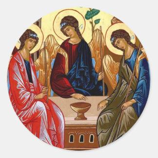 Trinity Icon Classic Round Sticker