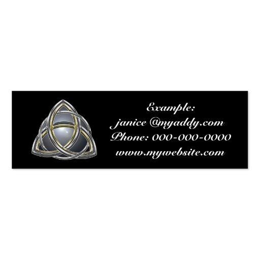Trinity Knot 2 Profile Card Business Card Templates
