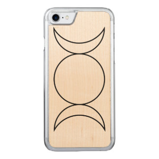 Trinity Moon Phase Carved iPhone 7 Case