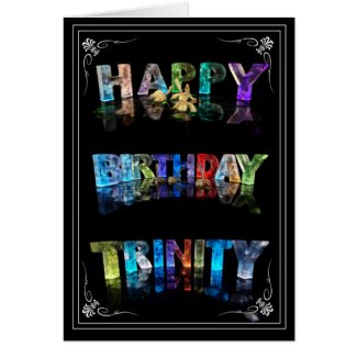 Trinity - Name in Lights greeting card (Photo)