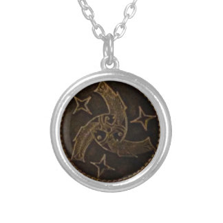 Trinity of God - three fish Silver Plated Necklace