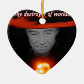 Trinity Robert Oppenheimer Ceramic Heart Decoration