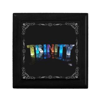 Trinity - The Name Trinity in 3D Lights (Photogra Keepsake Boxes