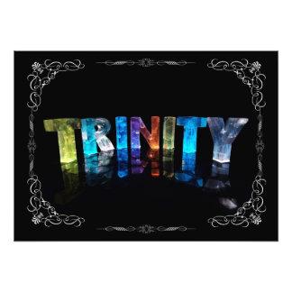 Trinity - The Name Trinity in 3D Lights Photogra Photo