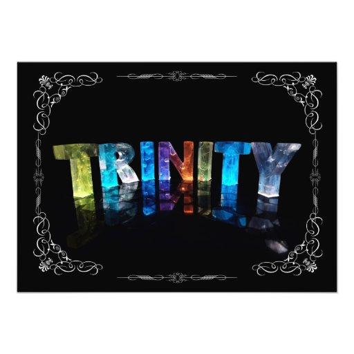 Trinity  - The Name Trinity in 3D Lights (Photogra Photo