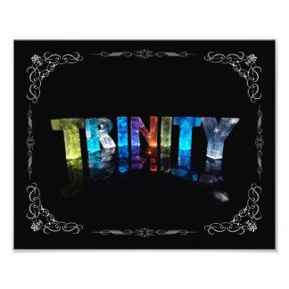 Trinity - The Name Trinity in 3D Lights Photogra Photograph