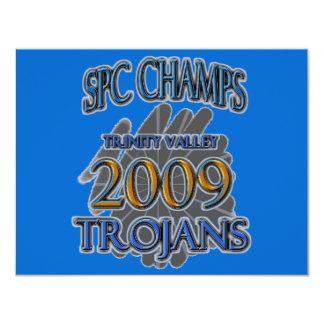 Trinity Valley 2009 SPC CHAMPIONS - Fort Worth, TX 11 Cm X 14 Cm Invitation Card