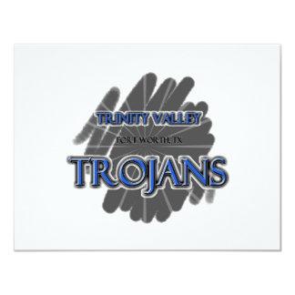 Trinity Valley School Trojans - Fort Worth, TX 11 Cm X 14 Cm Invitation Card