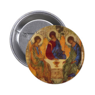 Trinity with Angel Wings 6 Cm Round Badge