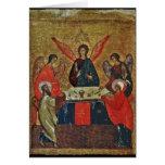 Trinity with the Saints Card