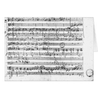 Trio, in E flat major 'Kegelstatt' Card