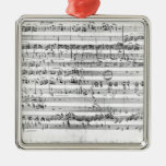 Trio, in E flat major 'Kegelstatt' Silver-Colored Square Decoration