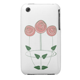 Trio of Art Nouveau Roses in Shades of Pink iPhone 3 Cases