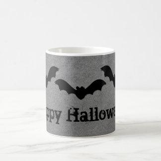 Trio of Bats Halloween Mug, Gray Basic White Mug