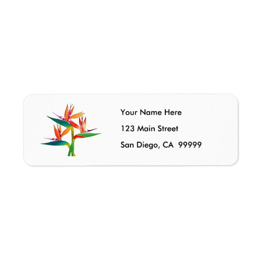 Trio of Birds of Paradise Return Address Label