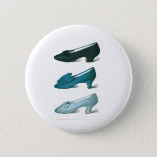 Trio of Blue Shoes 6 Cm Round Badge