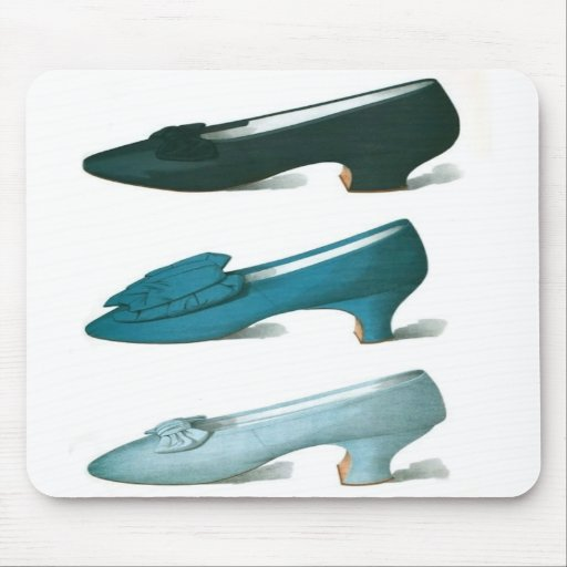 Trio of Blue Shoes Mouse Pad
