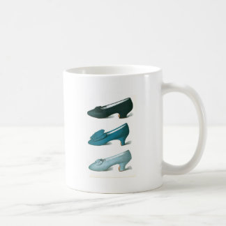 Trio of Blue Shoes Coffee Mugs