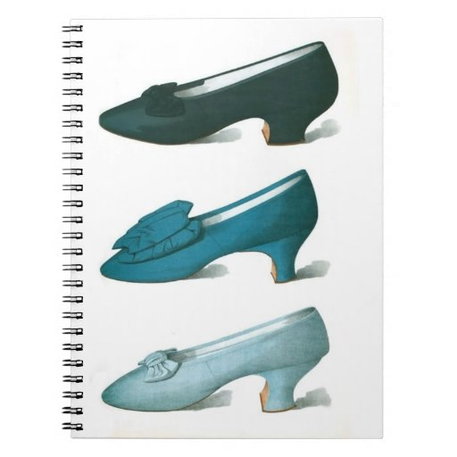 Trio of Blue Shoes Spiral Note Books