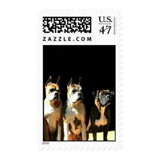 Trio of boxers stamp