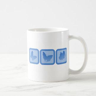 Trio of Butterflies Basic White Mug