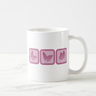 Trio of Butterlies Basic White Mug