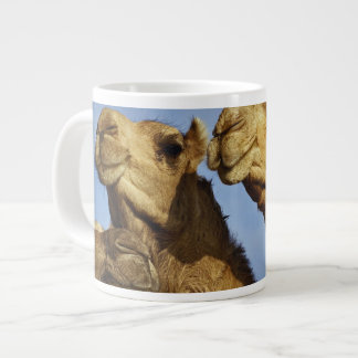 Trio of camels, camel market, Cairo, Egypt Large Coffee Mug
